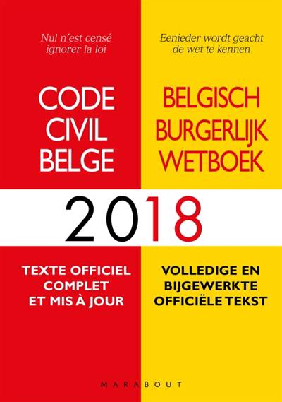 Code Civil Belge (édition 2018)